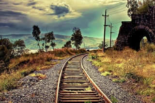 Abandoned Railroad Wallpaper for Android, iPhone and iPad