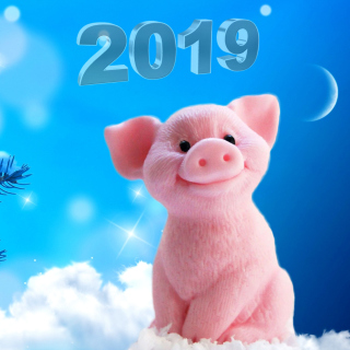 2019 Pig New Year Chinese Calendar Wallpaper for iPad mini 2