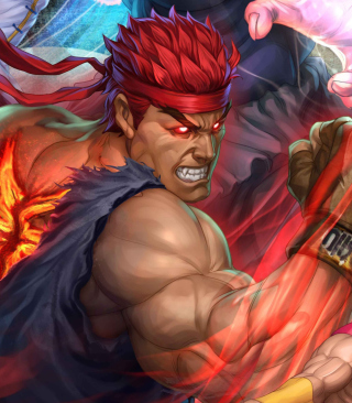 Street Fighter Arcade Game Background for Nokia C5-06