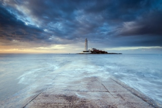 Lighthouse in coastal zone Picture for Android, iPhone and iPad