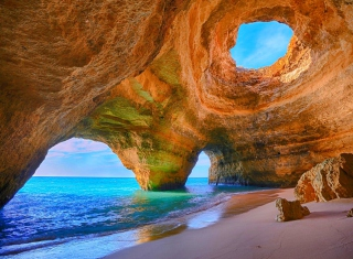 Sea Cave Background for Android, iPhone and iPad
