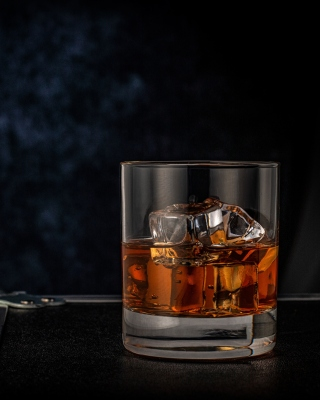 Free Golden Whiskey Glass Picture for 240x320