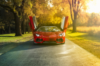 Red Lamborghini Aventador Background for Android, iPhone and iPad