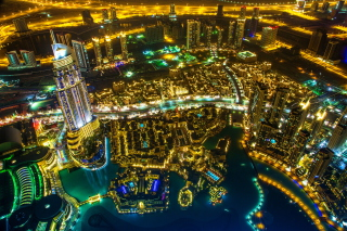 Dubai Top View Background for Android, iPhone and iPad
