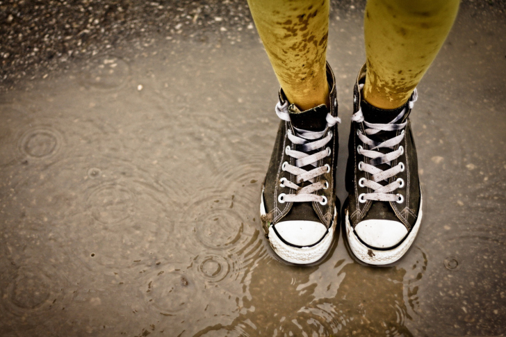 Wet Sneakers wallpaper