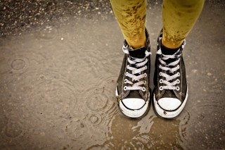 Wet Sneakers Background for Android, iPhone and iPad