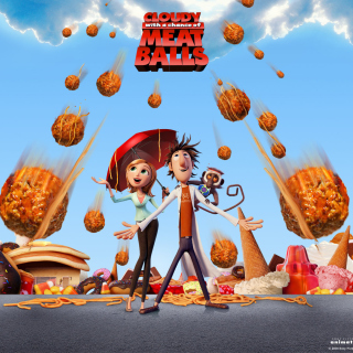 Cloudy with a Chance of Meatballs - Obrázkek zdarma pro iPad Air