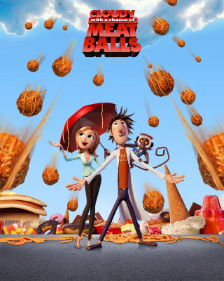 Cloudy with a Chance of Meatballs sfondi gratuiti per Nokia Asha 305