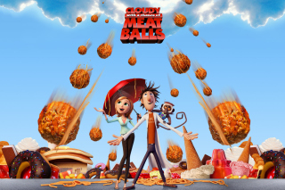 Cloudy with a Chance of Meatballs sfondi gratuiti per Nokia Asha 205