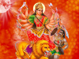 Free Durga Mata Picture for 320x240