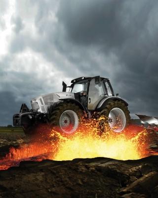 Lamborghini Tractor Picture for 640x1136