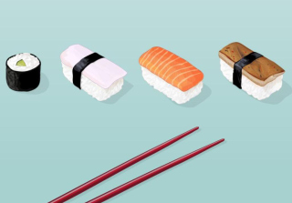 Sushi Lunch Background for Android, iPhone and iPad