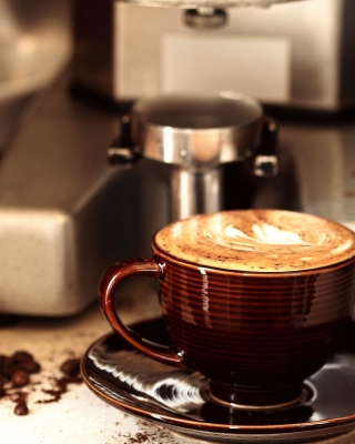 Coffee Machine for Cappuccino Wallpaper for Nokia Asha 306