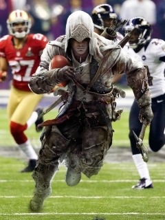 Screenshot №1 pro téma Assassins Creed 4 Super Bowl 240x320