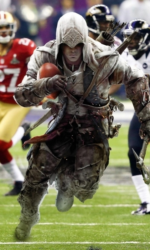 Screenshot №1 pro téma Assassins Creed 4 Super Bowl 480x800