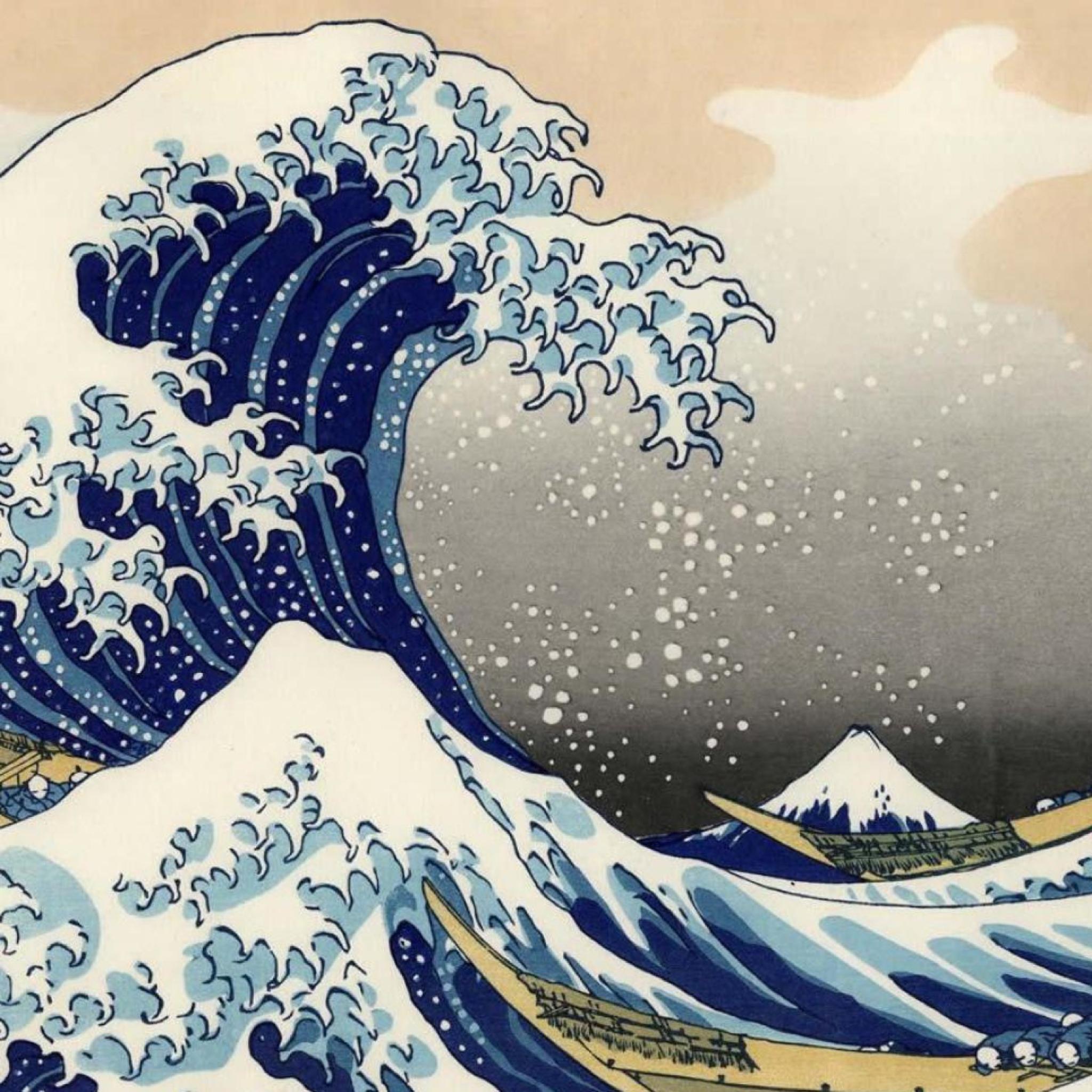 Японские волны рисунок