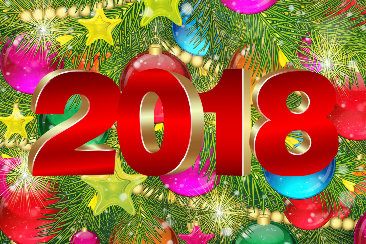 Fondo de pantalla Happy New Year 2018 eMail Greeting Card
