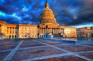 United States Capitol in Washington DC sfondi gratuiti per cellulari Android, iPhone, iPad e desktop