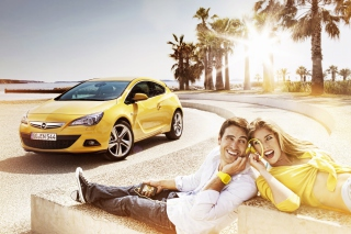 Couple with Opel Wallpaper for Android, iPhone and iPad