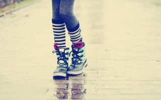 Rainboots Background for Android, iPhone and iPad