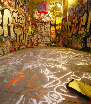 Street Graffiti Background for iPhone 3G