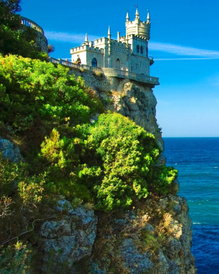 Swallows Nest Castle in Crimea sfondi gratuiti per Samsung Dash