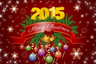 New Year and Xmas 2015 Background for Android, iPhone and iPad