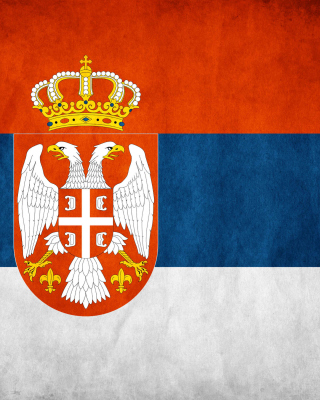 Serbian flag Background for Nokia Asha 305