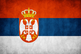 Free Serbian flag Picture for 1366x768