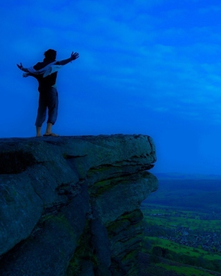 Alone on Rock Wallpaper for Nokia Lumia 1520