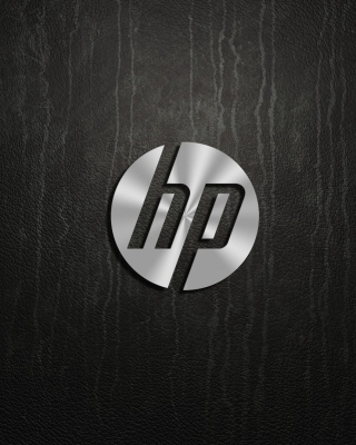 Картинка HP Dark Logo на телефон 640x1136