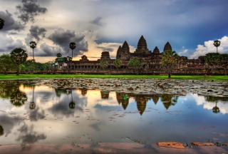 Angkor Wat Background for Android, iPhone and iPad