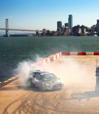 Ford Fiesta Rally sfondi gratuiti per iPhone 4S