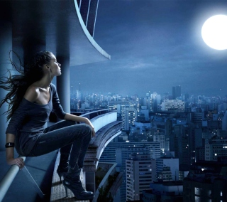 Night Walk On Roofs - Fondos de pantalla gratis para iPad 2