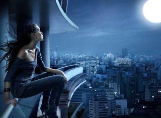 Night Walk On Roofs - Fondos de pantalla gratis para Samsung Galaxy S6 Active
