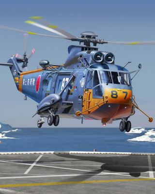 Sikorsky Helicopter Background for 240x320