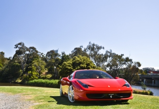 Red Ferrari Background for Android, iPhone and iPad