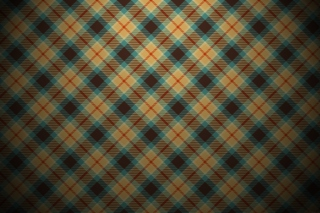 Free Blue And Orange Plaid Pattern Picture for Android, iPhone and iPad