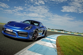Porsche Cayman GT4 Background for Android, iPhone and iPad