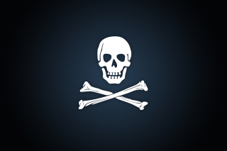 Cyber Pirate Skull Background for Android, iPhone and iPad