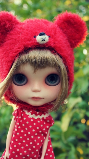 Cute Doll In Red Hat