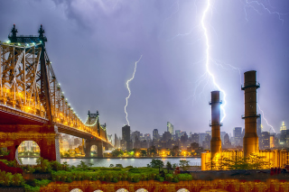 Storm in New York Background for Android, iPhone and iPad