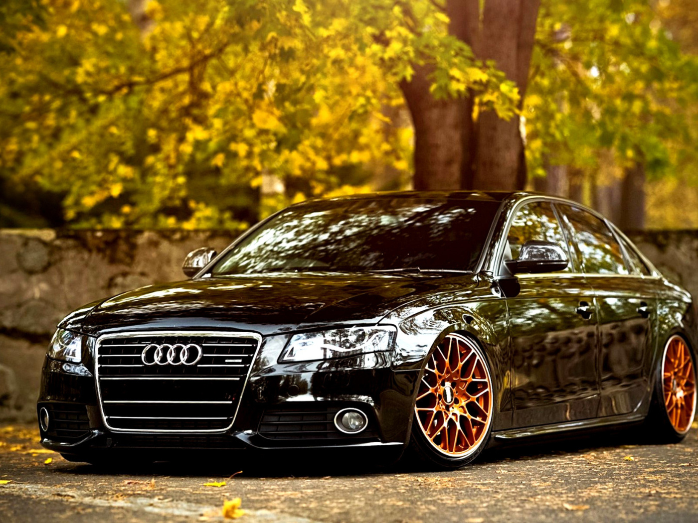 Screenshot №1 pro téma Audi A4 with New Rims 1400x1050