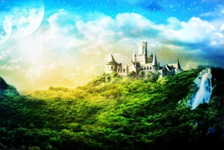 Castle In Green Picture for Android, iPhone and iPad