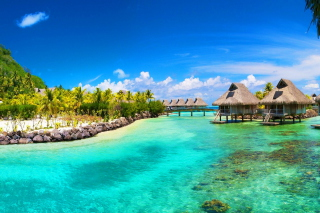 Hotel In Caribbean Sea Wallpaper for 220x176