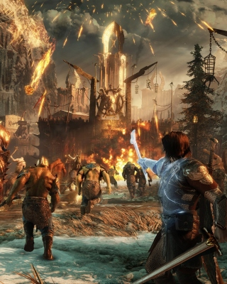 Middle earth Shadow of War sfondi gratuiti per Nokia Asha 308