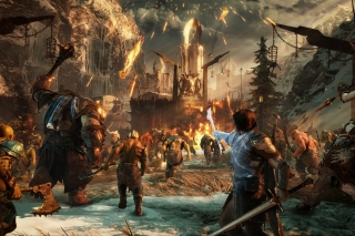 Middle earth Shadow of War sfondi gratuiti per 1920x1408