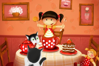 Cats Birthday Background for Android, iPhone and iPad
