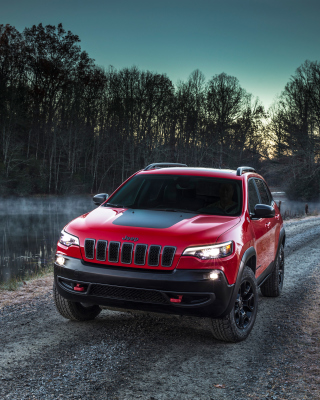 2018 Jeep Cherokee Trailhawk sfondi gratuiti per iPhone 6 Plus