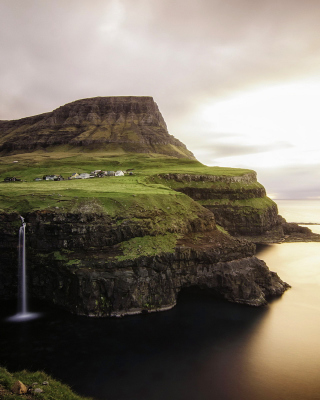 Gasadalur west side Faroe Islands Background for iPhone 6 Plus